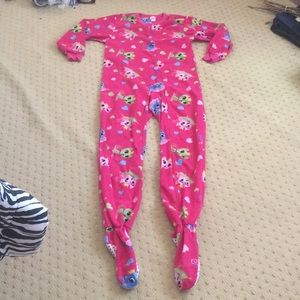 Other - Youth large pink princess cats onesie pajama 10-12